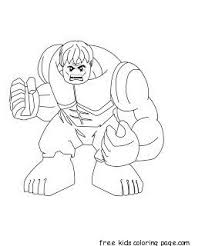Print Out Lego Superheroes Hulk Coloring Pages Coloring Pages