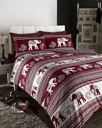 ethnic indian style printed duvet cover bed sets (red double