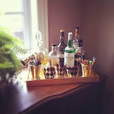 mad men inspired bar tray  design improvised