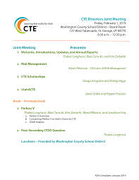 CTE Directors Joint Meeting - February 1, 2019