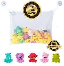 baby bath toy organizer set by bath fun time with 5 bath toys for gift boys