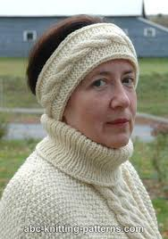 Knitted Headband Pattern Magnificent ABC Knitting Patterns Easy Headband With Cable