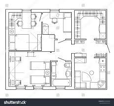 architecture design house drawing. Exellent Architecture Architectural Plan Of A House Layout The Apartment With Furniture  In Drawing For Architecture Design House Drawing S