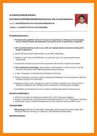 4 Indian Resume Format Manager For Teachers Susanta S