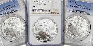 An Overlooked Modern Rarity Burnished Silver Eagles