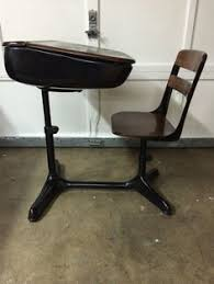 wooden school desk and chair. Mid Century Student School Desk Wooden And Chair S