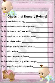 Nursery Rhyme Game  EtsyBaby Shower Games Nursery Rhymes