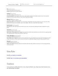 Perfect Food Handler Certificate Resume Mold Resume Ideas
