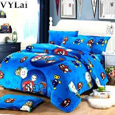 super kids bedding set single twin full duvet cover boys cartoon comforter bed sheets mario brothers bedroom sets hot r girls size comf