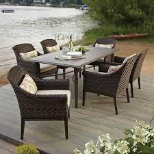 elijah 7 piece dining set with premium sunbrella fabric sam s club