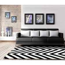 black and white rug. rugs - grace 622 black white round modern rug and