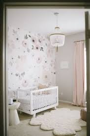 baby room for girl. Floral Whimsy Nursery - Glam Baby Girl Nursery Featuring Jolie Wallpaper  From The Project Shop Room For O