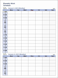 weekly schedule example 35 sample weekly schedule templates latter example template