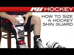 Ccm Shin Guard Size Chart How To Size A Hockey Shin Guard Youtube