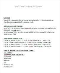Staff Nurse Resume Format Resume For Staff Nurse Nursing Fresher Resume Templates Resume