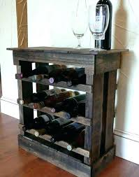 sofa table with wine storage. Wine Storage Table Sofa With Dark Pallet Wood Bottle  Rack Floor Or