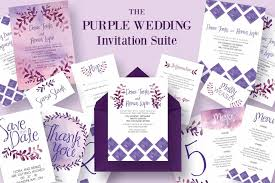 Wedding Invitations Templates Purple 90 Gorgeous Wedding Invitation Templates Design Shack