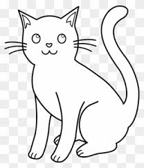 Cat Line Drawings Cat Pic Black And White Clipart Clipart Png