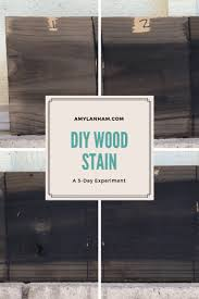 diy wood stain an experiment