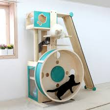 The Cat Tower provides a chance for your cats to climb, jump, and perhaps