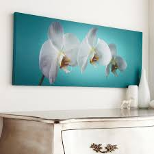 teal orchid by graham on blue orchid canvas wall art with graham brown 39 in x 16 in teal orchid by graham and brown