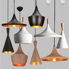 led retro vintage industrial pendant light fixtures design black white hanging lamp cafe game room restaurant