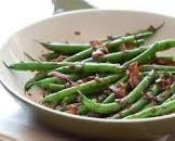 balsamic shallot green beans