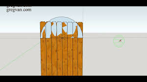 how to make three diffe types of curved designs for top of wood fence gate