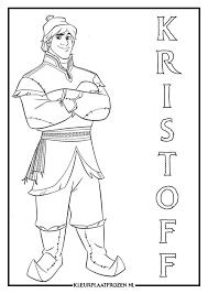 Kleurplaat Van Kristoff Uit Frozen Printen
