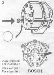 alternator wiring diagram w terminal alternator vwvortex com 1980 scirocco bosch or motorola alternator on alternator wiring diagram w terminal