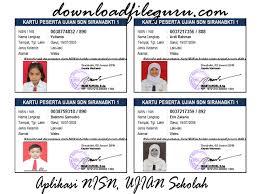 Aplikasi pembuatan kartu peserta ujian excel. Master Aplikasi Cetak Kartu Siswa Format Excel Xls Download File Guru