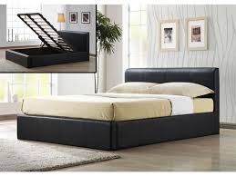 Modern Bedroom with Leather Storage Ottoman Bed Frame Hydraulic