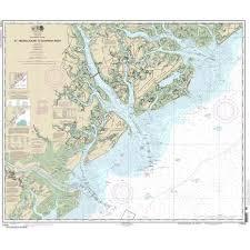 Noaa Chart 13295 Noaa Chart 11513 St Helena Sound To Savannah River