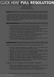 Good Resume Profile Resume Work Template