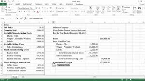 Formate Of Income Statement Contribution Format Income Statement