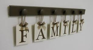 FAMILY Personalized Name Sign Custom Wall Hanging Wedding Gift Brown
