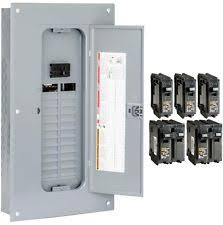 100 amp breaker box indoor main breaker panel box 100amp 24 space 48 circuit load center value pack