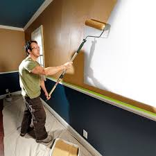 you can always tell a good paint job because the new wall paint is only on the wall not on the doors windows ceiling carpet or trim