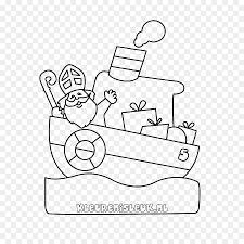 Pakjesboot 12 Kleurplaat Sinterklaas Drawing Steamboat Indiaan