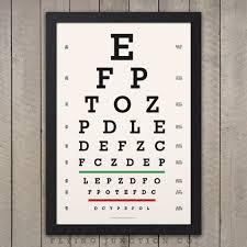 Eye Chart Poster Eye Chart Print Classic Snellen