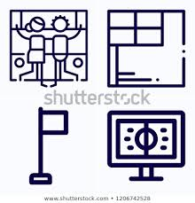Simple Set 4 Icons Related Template Stock Image Download Now