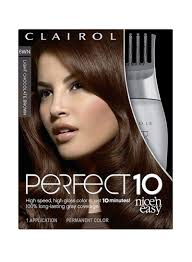 Light Chocolate Brown Hair Color Pictures Shop Clairol Nice N Easy Perfect 10 Permanent Hair Color