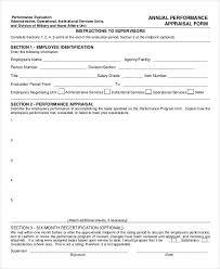6+ Annual Performance Appraisal Form - Free Sample, Example, Format ...