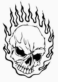 Small Picture Skull coloring pages on fire ColoringStar