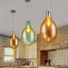art glass pendant lights fixtures for