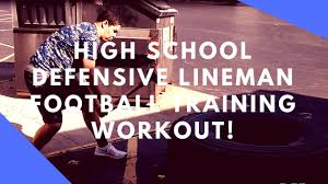 high defensive lineman workout