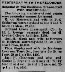 Eunice Avis Franklin Transfer of Property to Henry Wilky - Newspapers.com