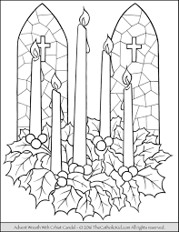 Small Picture Advent Wreath Coloring Page