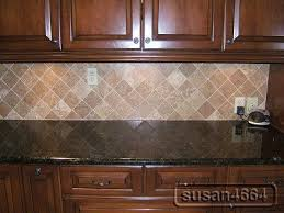 Black Granite Countertops With Tile Backsplash Enchanting Dark Granite With Cherry Cabinets And Backsplash Kitchen Ideas