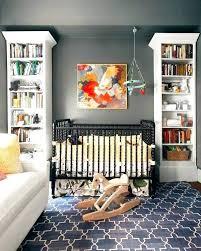 navy rug nursery round